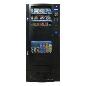 Seaga OVM 7 Beverage-16 Snack Black Combo Machine