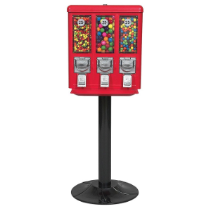 All-Metal Triple Play Vending Machine-Heavy Duty Black Stand