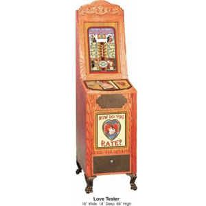 Antique Style Love Tester Impulse Arcade Novelty Game