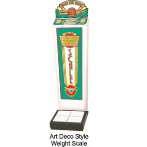 Art Deco Impulse Weight Scale Vending Machine