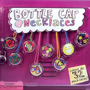 Bottle Cap Necklaces – 2.2 Inch Acorn-Shaped Capsules