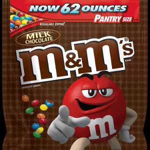 M&M's Milk Chocolate Candy One 62 oz. Bag