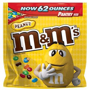Peanut M&M's Milk Chocolate Candy One 62 oz. Bag