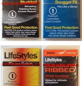 LifeStyles Mixed Assortment Single Latex Condoms