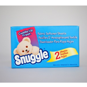 Snuggle-Fabric Softener Sheets. 100/Case-Coin Vending