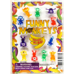 Funny Monkeys Figurines - 1.1 Inch Capsules