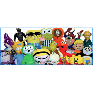 Jumbo Plush Licensed 50 Piece 100% Licensed Kit Mix