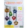 Leopard Print Pendants -1.1 Inch Acorn-Shaped Capsules