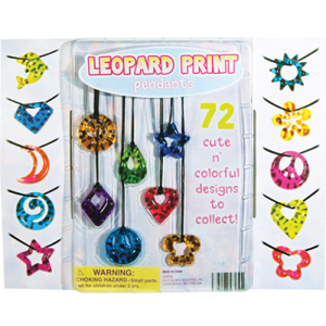Leopard Print Pendants - 2.2 Inch Toy Capsules