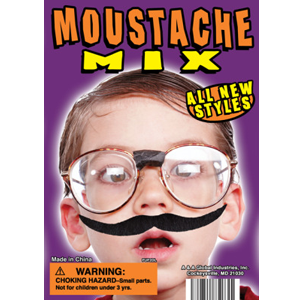 Mustache Mix - 1.1 Inch Acorn-Shaped Capsules