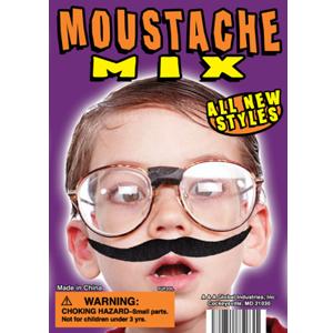 Mustache Mix - 1.1 Inch Acorn-Shaped Capsules
