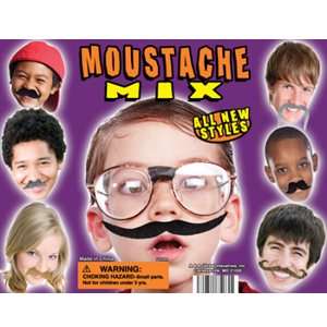 Moustache Mix - 2.2 Inch Acorn-Shaped Capsules