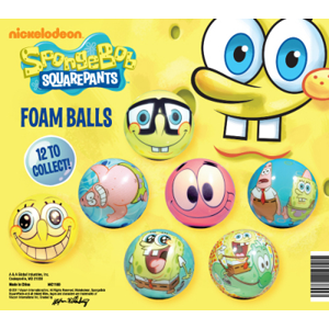 SpongeBob SquarePants Foam Balls-2.2 Inch Self Vend