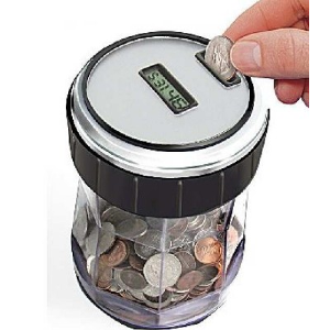 EZ-Count Money Jar Digital Coin Counter Electronic Piggy Banks
