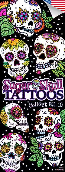 Sugar Skulls Glitter Tattoos - Vending Tattoo Refill