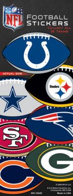 NFL Football Prismatic Stickers-Sticker Machine Refill