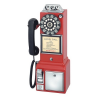 Crosley 1950's Classic Pay Phone-Model CR56-RE-Red