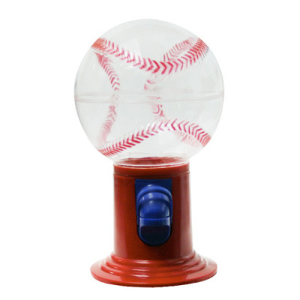 "9"" Sports Baseball Candy-Gumball Bulk Dispenser"