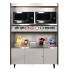 "AS-49"" Condiment Stand Model 492-8-MT-Platinum"