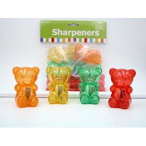 Gummy Bear Pencil Sharpeners 3 Colors 24 Count