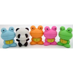 Panda-Frog Erasers Five Designs 36 Count