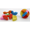 Puzzle Ball Erasers Six Colors Each 18 Count