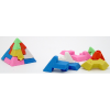 Pyramid Eraser Puzzles Six Colors In One 36 Count