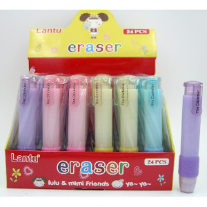 The Clickster Erasers Four Colors 24 Count