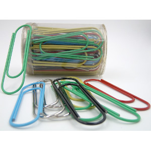 Giant Metal Paper Clips Six Colors 50 Count