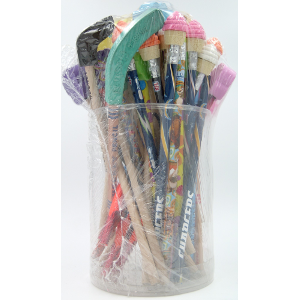 Topper Pencils-Erasers Big Variety 36 Count