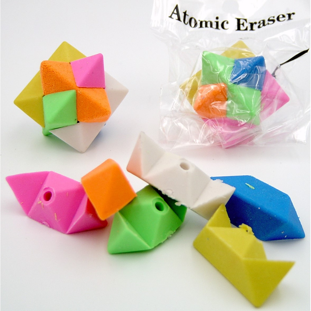 Atomic Star Puzzle Erasers 36 Count Online Vending
