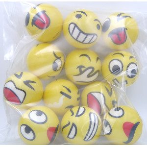 Emoji Balls Variety Twelve Designs 12 Count