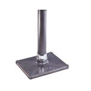 "Cast Iron Rectangular Base with 4"" Tube"